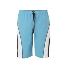 Lion in the Sun Mens UV Surf Shorts -- High UV Protection UPF50+ Swim Shorts, Shorts (Small (28/31in waist), Turquoise / White)