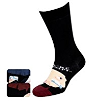 2 Pairs of Cotton Rich Grumpy & Grumpier Socks