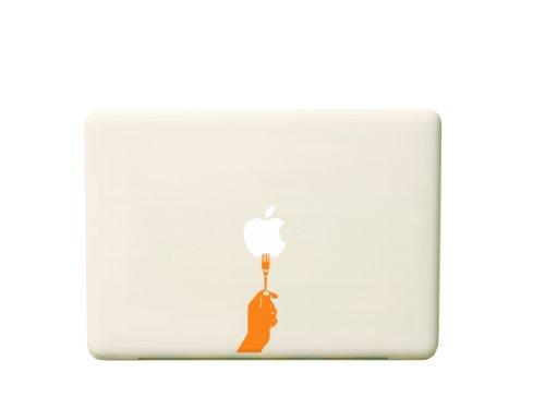 macbook用ステッカー Fork/オレンジ iPad用近日発売! 送料無料!