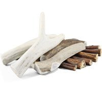 Bingo Pet Treats 564009 8-10-Inch Bingo Buck Antler Chews With Free 9-Inch Bully Stick, Large