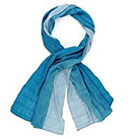 Pleated Ombre Lightweight Scarf