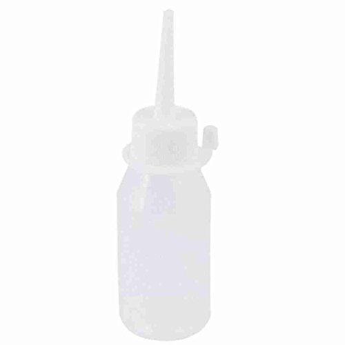 White Cover 50ml Clear Plastic Leer Flüssig Squeeze Bottle Dispenser