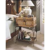 Progressive Furniture 1416-49 Metal Leg Drawer Night Stand Palm CourtCollection