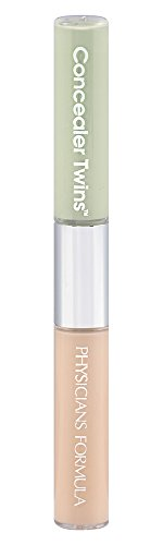 Physicians Formula Concealer Twins Cream Concealers, Green/Light, 0.24 Ounce