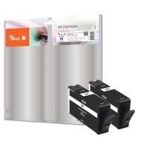 Peach PI300-573 Schwarz Remanufactured Tintenpatronen Pack of 2