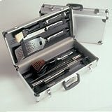 Electrolux DELUXE Stainless Steel BBQ Cooking TOOL UTENSIL SET - Complete With Luxury Presentation Case.,