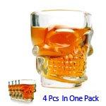 Doomed Shot Glasses Crystal Skull Head Vodka Whisky Cup 4Pcs/Set front-782254