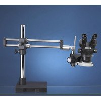 Luxo 23726Rb-Esd - Luxo System 273 Stereo-Zoom Binocular Microscope, Esd-Safe, Dual Arm Boom Stand, Led Ring Light