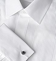 Sartorial Pure Cotton Pleated Dinner Shirt