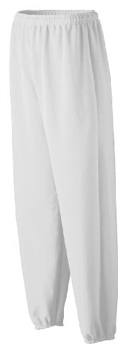 Augusta Sportswear Youth Heavyweight Sweatpant, White, Small front-771649