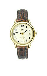 Timex Women's T20071 Easy Reader Brown Leather Watch