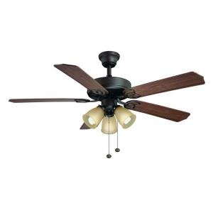 hampton bay brookhurst 52 ceiling fan 549742 oil rubbed bronze. Black Bedroom Furniture Sets. Home Design Ideas