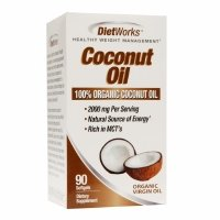 Diet Works Coconut Oil 2000mg, Softgels