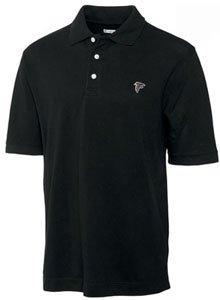 Atlanta Falcons Mens Ace 100% Cotton Polo Black by Cutter & Buck