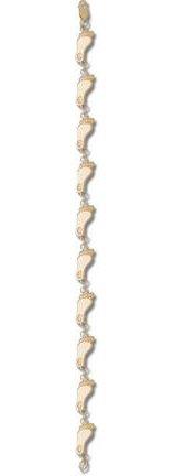 North Carolina Tar Heels Tar Heel 3 8 7 1 2 Bracelet -14KT Gold Jewelry by Logo Art