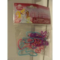 DISNEY PRINCESS 50 ITTY-BITTY BANDS CHARACTER SHAPED RUBBER BANDS