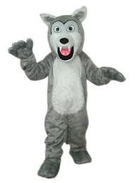 Timber Wolf Adult Mascot Costume