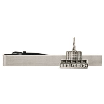 LDS Seattle Washington Temple Silver Steel Tie Bar - Tie Clip - Priesthood Gift, LDS Missionary, Tie Clip