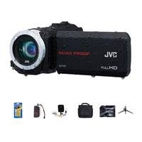 Jvc Everio Gz-R10 Quad-Proof Full Hd Camcorder Black - Bundle With 32 Gb Class 10 Sdhc Card, Video Bag, Cleaning Kit, Memory Card Holder, Table Top Tripod, Screen Protector