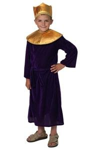 Nativity Christmas King Costume Wiseman Purple 4/6
