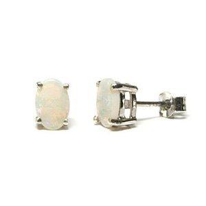 Premium 9ct White Gold Opal stud earrings Gift Boxed