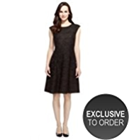 M&S Collection Jacquard Floral Lace Prom Dress