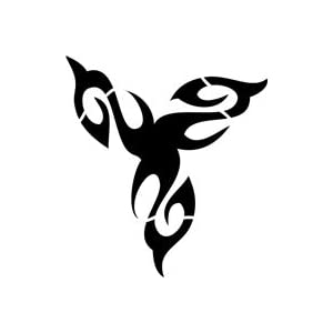 Amazon.com: Trinity Tribal Tattoo Stencil - 18 inch (at longest point