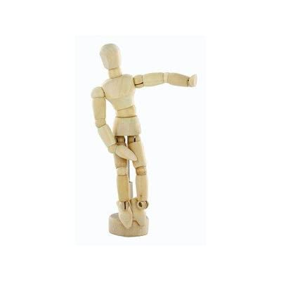 Reeves 12cm Jointed Small Natural Wooden Manikin Reeves Artist Modelling Mini