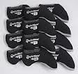 10pc set Taylormade Burner Logo Black Neoprene Iron Covers