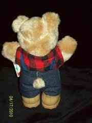 Furskins Bears - Farrell Furskin Holiday Bear - Wendy's - 1986 - 1