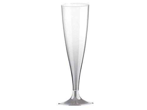 Flute de flûtes à champagne jetables doimo Flair Flûtes + manche 140cc en plastique (PS)/Transparent/Kit de 20pièces
