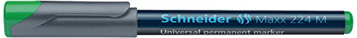 Schneider - Marqueur permanent pour rétroprojecteurs 224M, vert, avec une pointe ogive M, 1 mm de largeur de tracé (1204)