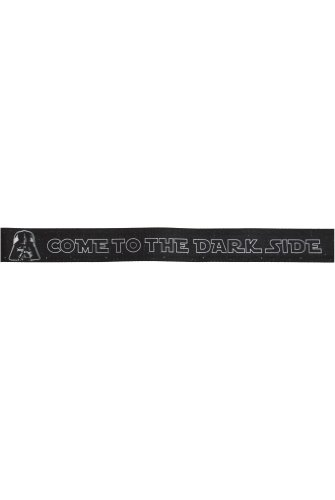 "Star Wars Seatbelt Belt - Darth Vader Repeating ""Come to the Dark Side"" on Black"