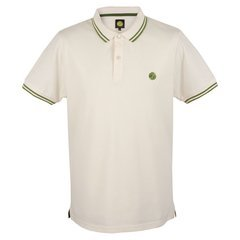 Pretty Green Men's Tipped Polo Shirt (Medium, White)