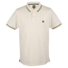 Pretty Green Men's Tipped Polo Shirt (Medium, White)