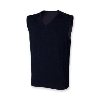 Henbury H725 Mens Sleeveless V Neck Jumper Navy L