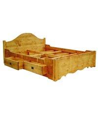 Meubles brenier lit bois massif avec tiroir de rangement 160 x 200 cm cuisine maison - Lit 140 avec tiroirs rangement ...