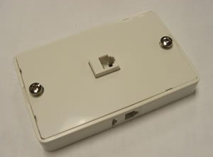 Accessories Mod Wall Jack 3-Way WHITE (Installation Equipment / Wall Jacks/Inserts)