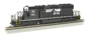 Bachmann Industries Emd SD40-2 DCC Equipped HO Scale #3411 Norfolk Southern Thoroughbred Locomotive