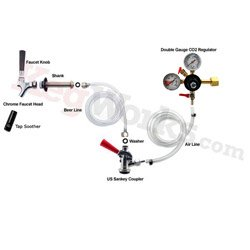 Standard Refrigerator Conversion Kit (US Sankey Coupler - No CO2 Tank)
