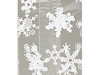 White Snowflakes Cello Party Bags - Pack of 20 (3.5 x 2 x 7.5)