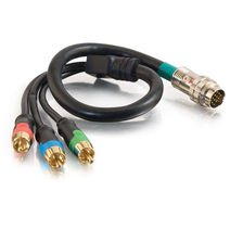 Cables To Go 42090 RapidRun Component Video Flying Lead (10 Feet, Black)