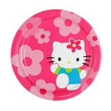 "Hello Kitty Flower Fun Paper 9"" Dinner Plates 8 Count"