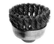 Vermont American 16830 3-Inch Knotted Wire Cup Brush with 5/8-Inch Arbor by Vermont American