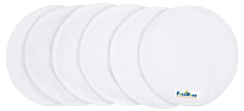 FuzziBunz Nursing Pads, White, 6 Pack