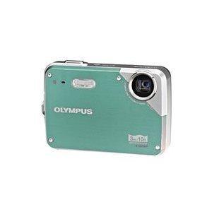 Olympus X-560WP - Digital camera - compact - 10.0 Mpix - optical zoom: 3 x - supported memory: xD, microSD - green