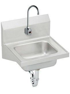 Commercial Wash Sink : Elkay CHS1716SACMC Hand Wash-Up Commercial Sink, Sensor Faucet Package ...