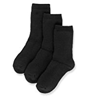 3 Pairs of Plain Thermal School Socks