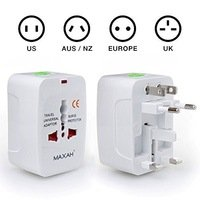 ShopSwipe World Universal World Wide Travel Charger Adapter Plug, White