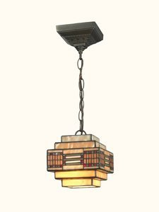 Dale Tiffany TH12071 Cube Mission Pendant, Small, Dark Antique Brass by Dale Tiffany Lamps